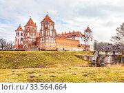 Купить «Mir Castle Complex. Republic of Belarus», фото № 33564664, снято 9 марта 2020 г. (c) Parmenov Pavel / Фотобанк Лори