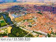 Aerial view of Salamanca Cathedral and historical center of city (2019 год). Стоковое фото, фотограф Яков Филимонов / Фотобанк Лори