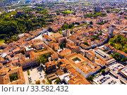 Купить «Aerial view of Gorizia cityscape, Italy», фото № 33582432, снято 3 сентября 2019 г. (c) Яков Филимонов / Фотобанк Лори