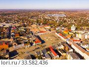 Aerial view of polish city of Skierniewice. Стоковое фото, фотограф Яков Филимонов / Фотобанк Лори