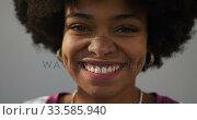 Купить «Close up view of mixed race woman», видеоролик № 33585940, снято 17 мая 2019 г. (c) Wavebreak Media / Фотобанк Лори