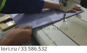 Купить «Worker at the sewing machine», видеоролик № 33586532, снято 28 сентября 2019 г. (c) Wavebreak Media / Фотобанк Лори