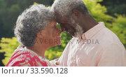 Купить «A senior african american couple spending time together in the garden in love social distancing in q», видеоролик № 33590128, снято 12 ноября 2019 г. (c) Wavebreak Media / Фотобанк Лори