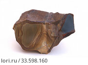 Купить «Picture jasper. Jasper is an aggregate of microparticles of quartz. Sample.», фото № 33598160, снято 4 апреля 2020 г. (c) age Fotostock / Фотобанк Лори