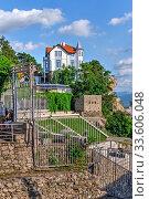 Купить «Roman amphitheater in Plovdiv, Bulgaria», фото № 33606048, снято 24 июля 2019 г. (c) Sergii Zarev / Фотобанк Лори