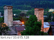 Купить «Mestia, Svaneti, Georgia.», фото № 33615128, снято 8 июля 2019 г. (c) age Fotostock / Фотобанк Лори
