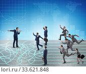 Купить «Business people in uncertainty concept», фото № 33621848, снято 6 июля 2020 г. (c) Elnur / Фотобанк Лори
