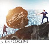 Купить «Business concept of debt and borrowing», фото № 33622948, снято 6 июля 2020 г. (c) Elnur / Фотобанк Лори