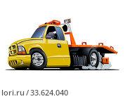 Купить «Cartoon tow truck», иллюстрация № 33624040 (c) Александр Володин / Фотобанк Лори