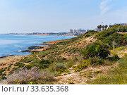 Купить «Dehesa de Campoamor,view from Cabo Roig beach. Spain», фото № 33635368, снято 13 марта 2020 г. (c) Alexander Tihonovs / Фотобанк Лори
