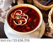 Solyanka with assorted meat. Стоковое фото, фотограф Яков Филимонов / Фотобанк Лори