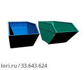 Farbige Container für Abfall. Стоковое фото, фотограф Zoonar.com/Dr. Norbert Lange / easy Fotostock / Фотобанк Лори