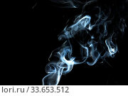 Купить «Smoke with a black background. Abstract element to help your design», фото № 33653512, снято 14 июля 2020 г. (c) age Fotostock / Фотобанк Лори