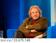 FRANKFURT AM MAIN, Germany - October 18 2019: Thomas Gottschalk (*1950, German TV host) talking on stage at 71st Frankfurt Book Fair / Buchmesse Frankfurt. Стоковое фото, фотограф Zoonar.com/Markus Wissmann / age Fotostock / Фотобанк Лори