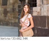 close-up portrait of smiling slim adult girl in sexy evening apparel. Стоковое фото, фотограф Яков Филимонов / Фотобанк Лори