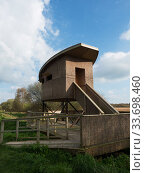 Купить «Shapwick Heath Tower Hide, Shapwick Heath National Nature Reserve, part of the Avalon Marshes, Somerset Levels and Moors, England, UK, April 2019», фото № 33698460, снято 2 июня 2020 г. (c) Nature Picture Library / Фотобанк Лори