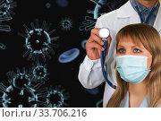 Купить «Concept of corona virus.», фото № 33706216, снято 13 июля 2020 г. (c) Jan Jack Russo Media / Фотобанк Лори