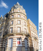 Houlgate's former Gran Hotel, Normandie, Calvados, France. Стоковое фото, фотограф Alain Kubacsi / age Fotostock / Фотобанк Лори