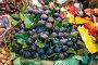 Купить «ripe figs with leaves on counter in market», фото № 33711308, снято 15 апреля 2019 г. (c) Татьяна Яцевич / Фотобанк Лори