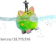 Купить «The businessman in debt concept with piggybank», фото № 33715516, снято 27 мая 2020 г. (c) easy Fotostock / Фотобанк Лори