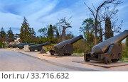 Малахов курган, тактически важная высота во время Крымской и Второй Мировой войны (2019 год). Редакционное фото, фотограф Андрей Мигелев / Фотобанк Лори
