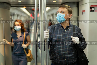 Subway ride during a pandemic COVID-19