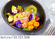 Купить «Seafood ceviche with red fish», фото № 33721508, снято 27 мая 2020 г. (c) Яков Филимонов / Фотобанк Лори