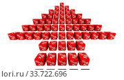 Купить «Стрелка показывает рост на десять процентов», видеоролик № 33722696, снято 11 мая 2020 г. (c) WalDeMarus / Фотобанк Лори