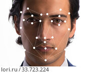 Купить «Concept of face recognition software and hardware», фото № 33723224, снято 4 июня 2020 г. (c) Elnur / Фотобанк Лори