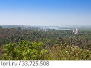 Mandovi river and ancient Churches. Old Goa. India. (2014 год). Стоковое фото, фотограф Вознесенская Ольга / Фотобанк Лори