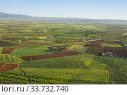 Купить «Aerial view of the fertile fields near the city of Fez (or Fes) in Morocco.», фото № 33732740, снято 1 апреля 2008 г. (c) age Fotostock / Фотобанк Лори
