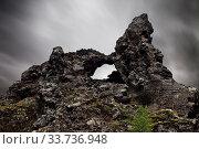 Купить «Lavaformation, Tuffsteinformationen, Dimmuborgir Nationalpark, Myvatn, Nordostisland, Island, Europa», фото № 33736948, снято 1 июня 2020 г. (c) age Fotostock / Фотобанк Лори