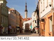 Купить «empty street of Tallinn city old town», фото № 33741432, снято 8 апреля 2020 г. (c) Syda Productions / Фотобанк Лори