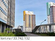 Cityscape of residential buildings in Perm, Russia (2020 год). Редакционное фото, фотограф Евгений Харитонов / Фотобанк Лори