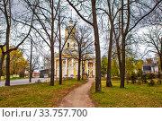 Купить «Ильинская церковь на Пороховых. Санкт-Петербург», фото № 33757700, снято 7 мая 2020 г. (c) Сергей Афанасьев / Фотобанк Лори
