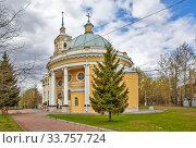 Купить «Ильинская церковь на Пороховых. Санкт-Петербург», фото № 33757724, снято 7 мая 2020 г. (c) Сергей Афанасьев / Фотобанк Лори