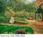 Купить «Camille Pissarro (1830 1903) coin de jardin eragny 1897.», фото № 33760432, снято 9 апреля 2019 г. (c) age Fotostock / Фотобанк Лори
