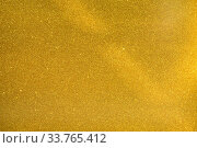 Купить «Gold Glitter Sparkle Background, Golden Glitter Decorative Texture Paper, Bright Brilliant Festive Metallic Textured Empty Wallpaper Backdrop, Tin Metal Material for Holiday Craft Design Decoration», фото № 33765412, снято 14 июля 2020 г. (c) age Fotostock / Фотобанк Лори
