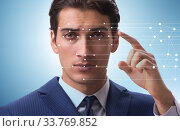Купить «Concept of face recognition software and hardware», фото № 33769852, снято 4 июня 2020 г. (c) Elnur / Фотобанк Лори
