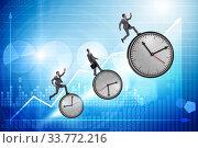 Купить «Growth and recovery concept with businessman and clocks», фото № 33772216, снято 6 июня 2020 г. (c) Elnur / Фотобанк Лори