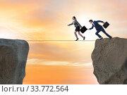 Купить «Concept of unethical business competition», фото № 33772564, снято 4 июля 2020 г. (c) Elnur / Фотобанк Лори