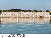 Coastal protection, concrete wall. Danube river (2014 год). Стоковое фото, фотограф EugeneSergeev / Фотобанк Лори