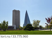 North Korea, Pyongyang architecture (2019 год). Стоковое фото, фотограф Знаменский Олег / Фотобанк Лори