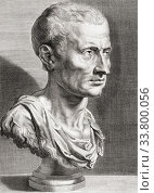 Купить «Gaius Julius Caesar, 100BC - 44BC. The last dictator of Rome. This engraving by an anonymous artist after a work by Peter Paul Rubens is sometimes identified...», фото № 33800056, снято 3 марта 2020 г. (c) age Fotostock / Фотобанк Лори
