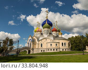 Cathedral of St. Prince Igor of Chernigov in Peredelkino Moscow region, Russia (2014 год). Стоковое фото, фотограф Наталья Волкова / Фотобанк Лори
