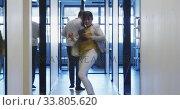 Купить «Businesswoman celebrating in modern office», видеоролик № 33805620, снято 12 октября 2019 г. (c) Wavebreak Media / Фотобанк Лори