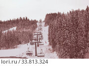 Купить «Winter season on ski resort», фото № 33813324, снято 27 мая 2020 г. (c) easy Fotostock / Фотобанк Лори