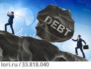 Купить «Business concept of debt and borrowing», фото № 33818040, снято 11 июля 2020 г. (c) Elnur / Фотобанк Лори
