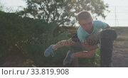Купить «Caucasian boy training at boot camp », видеоролик № 33819908, снято 7 февраля 2020 г. (c) Wavebreak Media / Фотобанк Лори