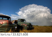 Купить «Vintage Farm Trucks Saskatchewan Canada weathered and old», фото № 33821608, снято 1 июня 2020 г. (c) age Fotostock / Фотобанк Лори
